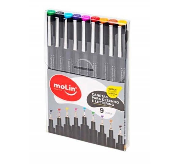 canetas desenho molin