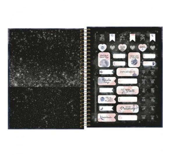 caderno espiral capa dura colegial 10 materias magic 160 folhas 319309 2