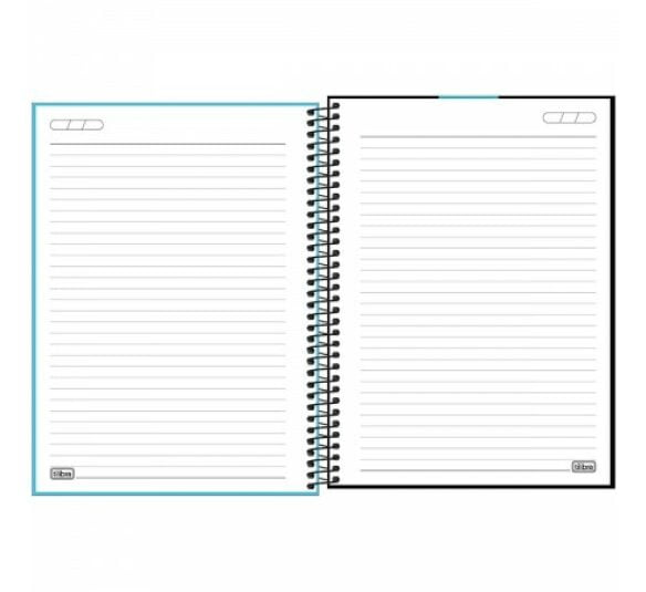 caderno espiral capa plastica universitario 10 materias neon azul 160 folhas 302384 1