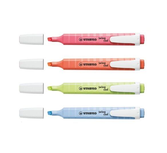 marca texto stabilo swing cool pastel c 4 unds novas cores 2645 2 59457aba13ae8db23df59594150f8676