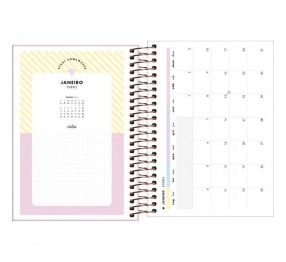 agenda espiral diaria 14 x 20 cm happy 2021 314234 3