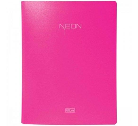 fichario 4 argolas em polipropileno lombada 40mm neon rosa 289086 e1